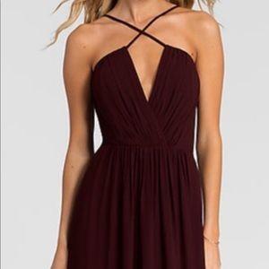 Bill Levkoff Bridesmaids Dress - Wine